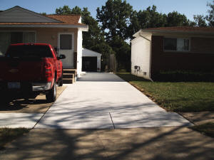 Finished concrete driveway. Swartz Creek, MI