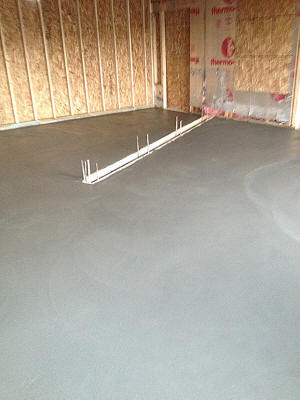 Garage floor with trench for drain in Davison, MI