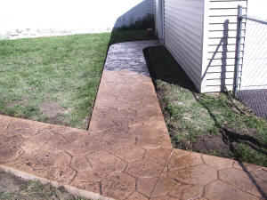 Stamped Sidewalk with Walnut release - Flint, MI